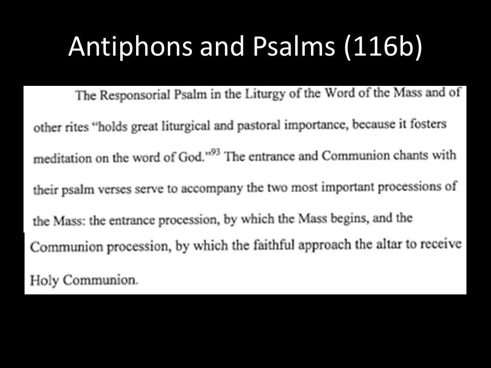 Antiphons and Psalms (116b)
