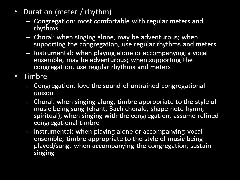 Duration (meter / rhythm)