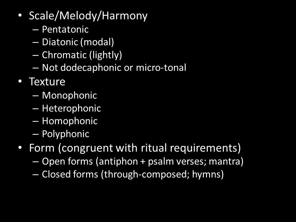 Scale/Melody/Harmony