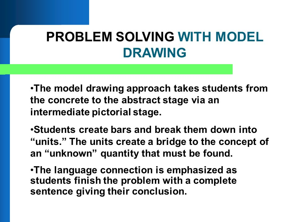 PROBLEM SOLVING WITH MODEL DRAWING