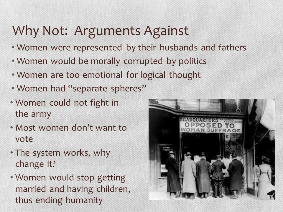 Why Not: Arguments Against