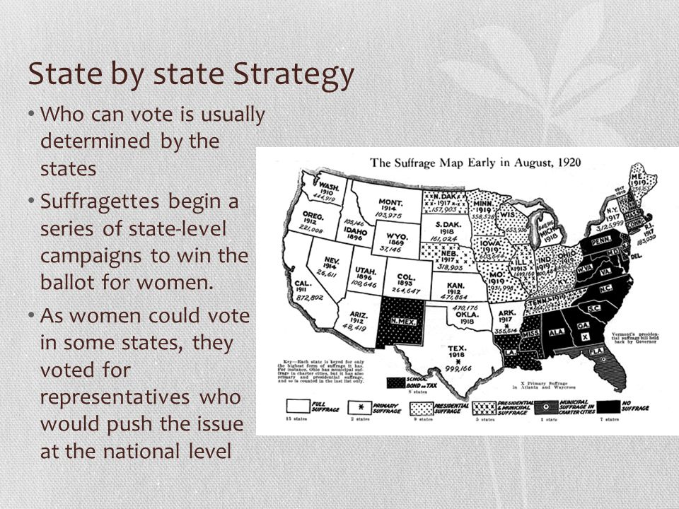 State by state Strategy