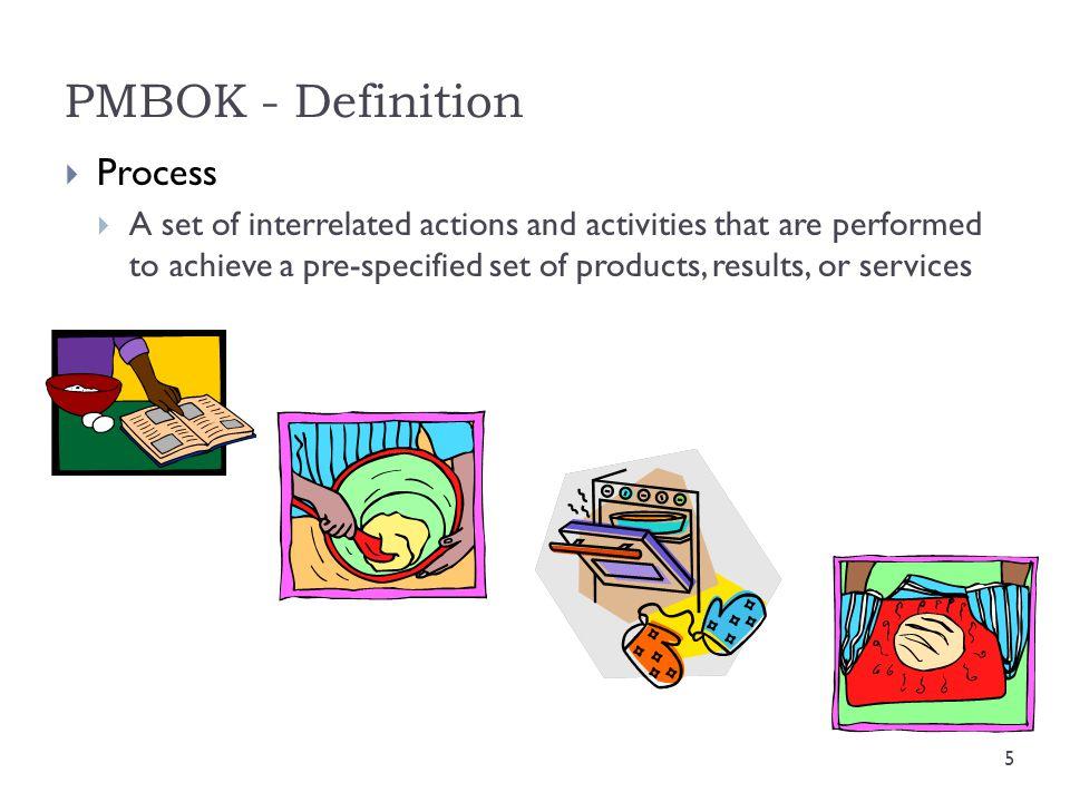 PMBOK - Definition Process