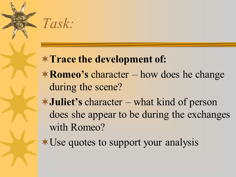 Task: Trace the development of: