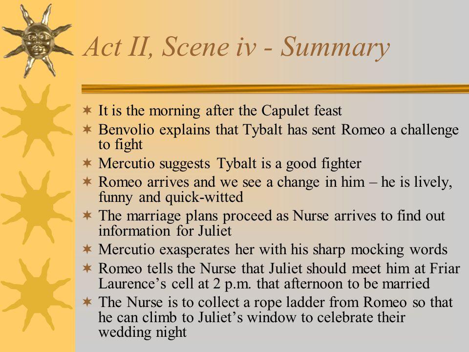 Act II, Scene iv - Summary