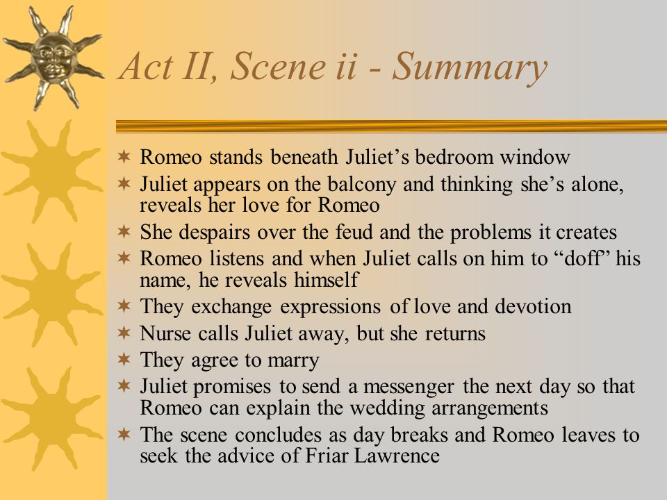 Act II, Scene ii - Summary