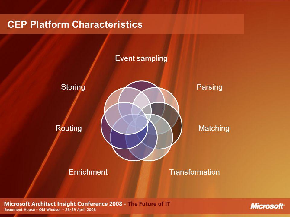 CEP Platform Characteristics