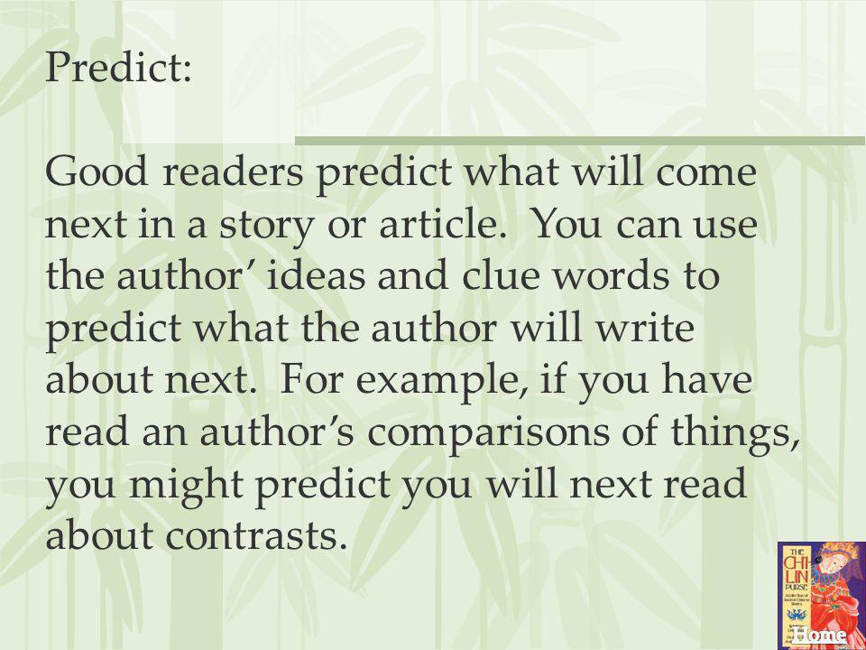 Predict: