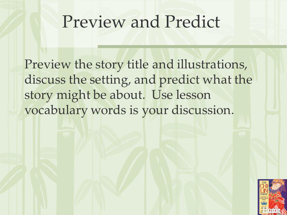Preview and Predict