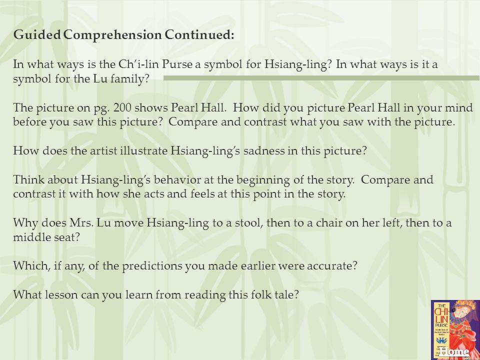 Guided Comprehension Continued:
