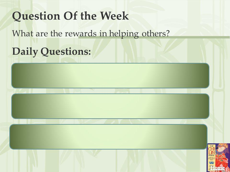 Question Of the Week Daily Questions: