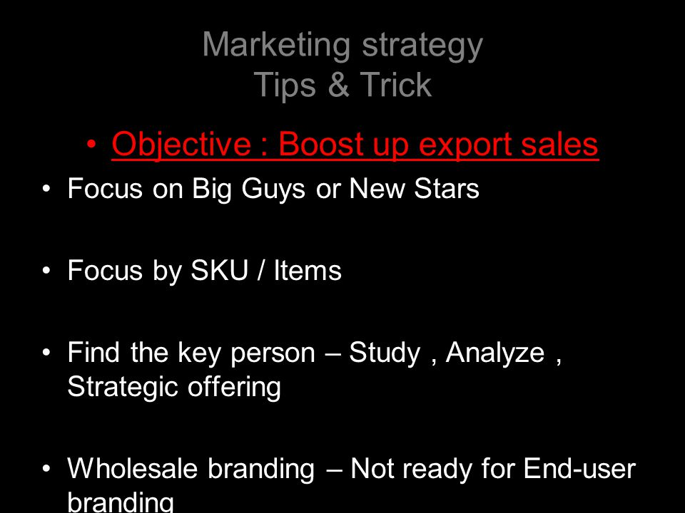 Marketing strategy Tips & Trick