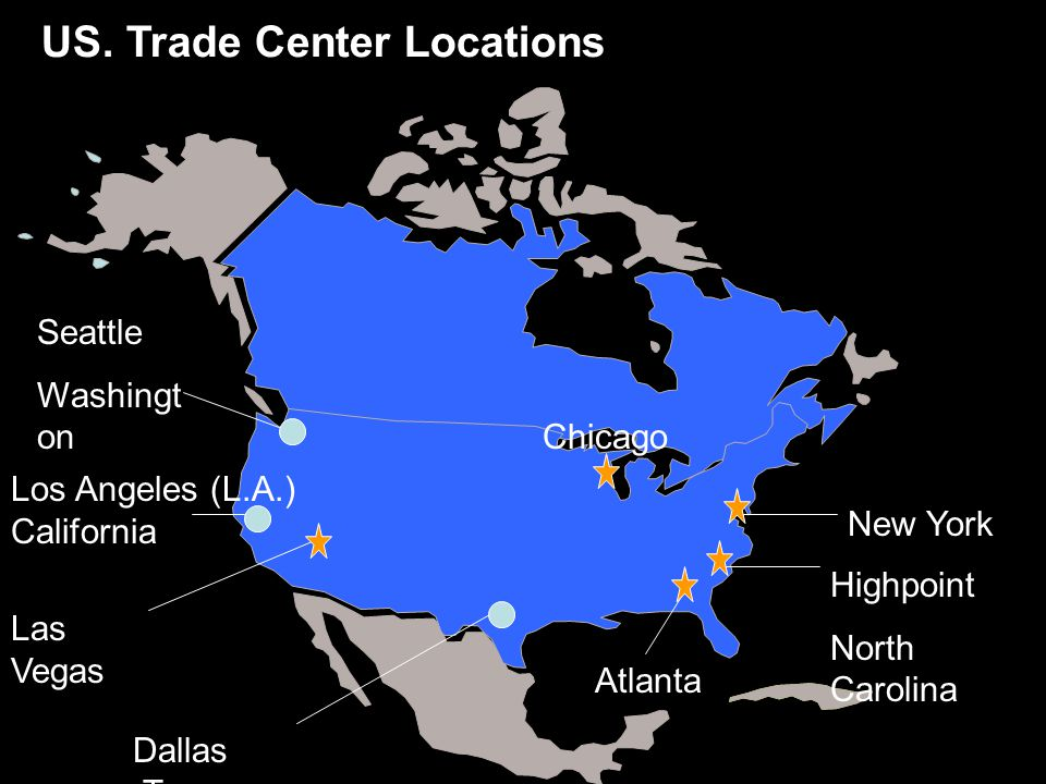 US. Trade Center Locations
