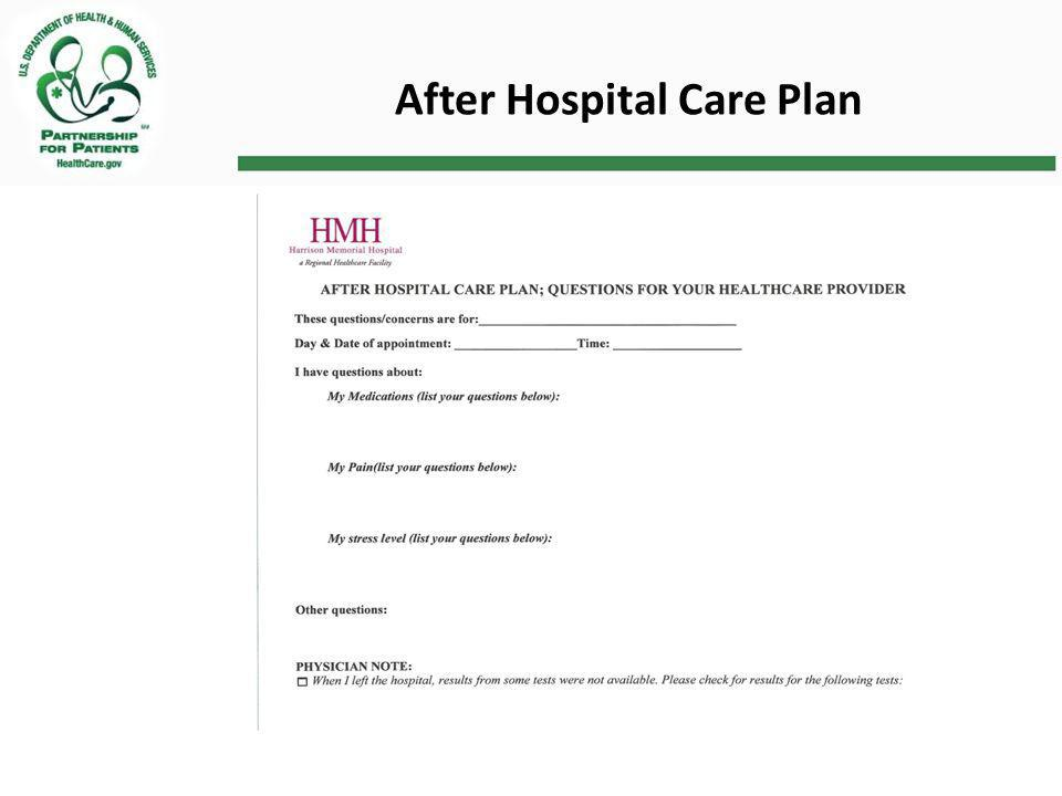 After Hospital Care Plan