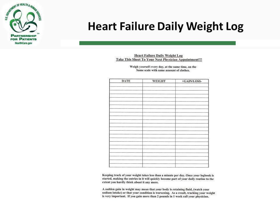 Heart Failure Daily Weight Log