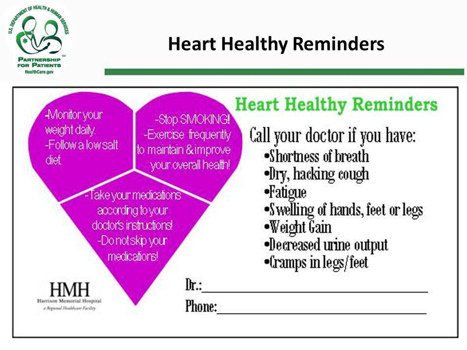 Heart Healthy Reminders