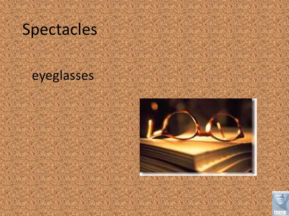 Spectacles eyeglasses