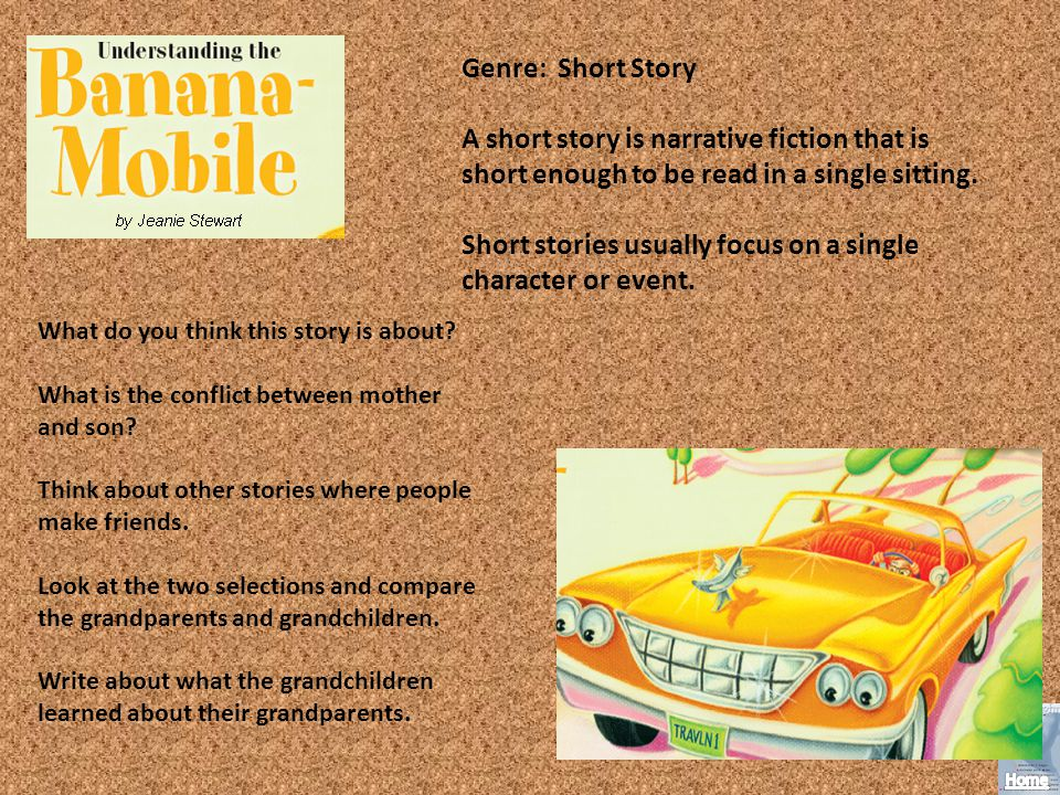 Short stories usually focus on a single character or event.