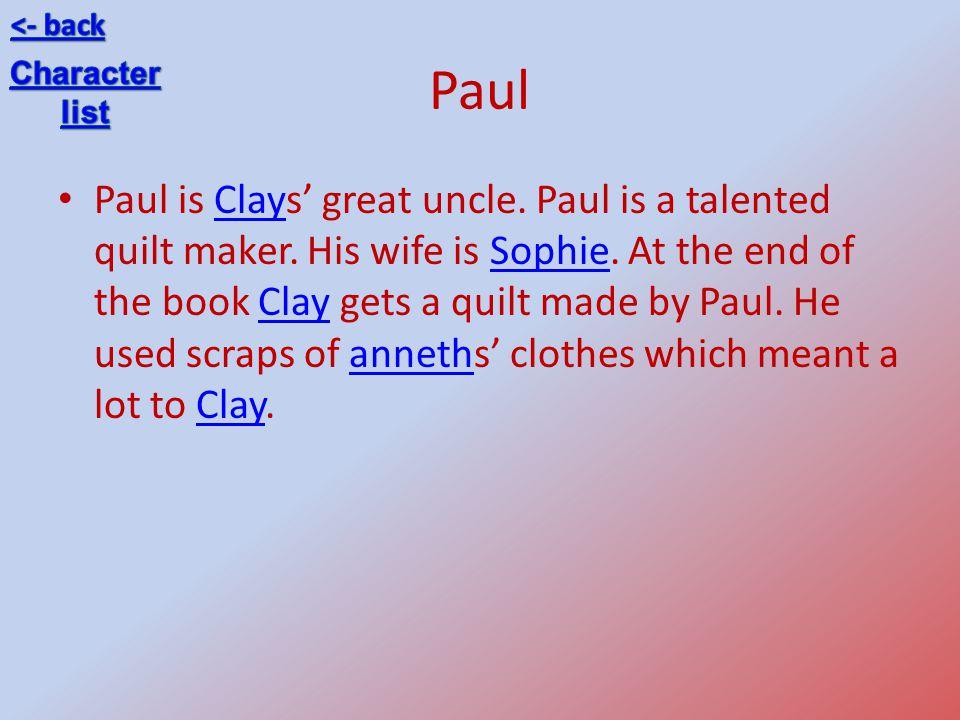 <- back Paul. Character. list.