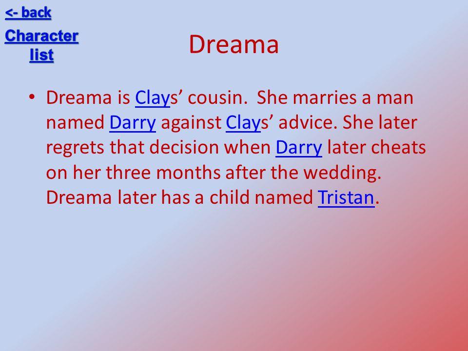<- back Dreama. Character. list.
