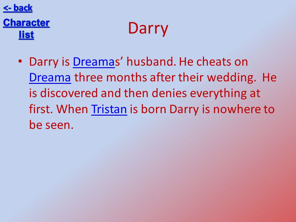<- back Darry. Character. list.