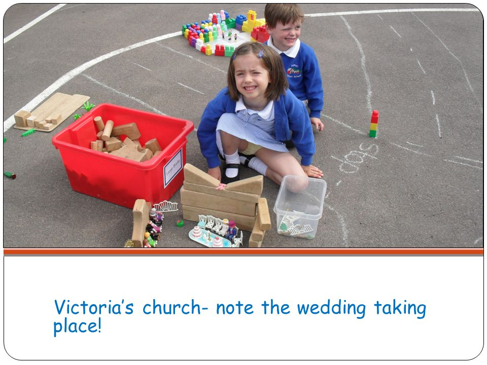 Victoria's church- note the wedding taking place!