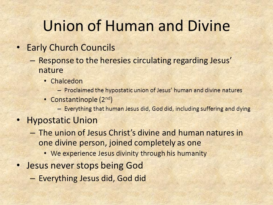 Union of Human and Divine