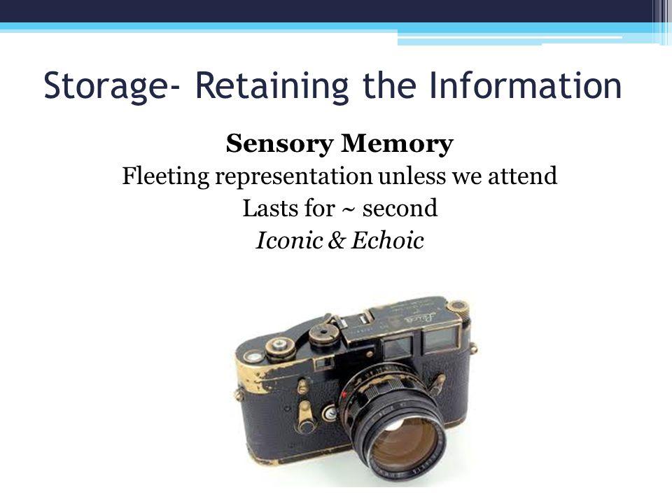 Storage- Retaining the Information
