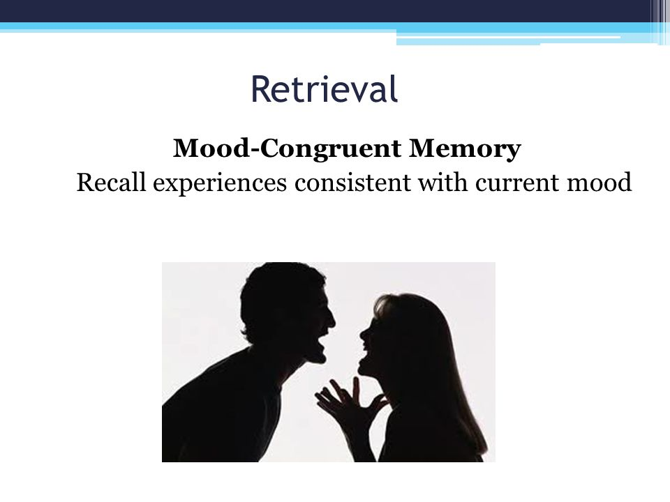 Mood-Congruent Memory Recall experiences consistent with current mood