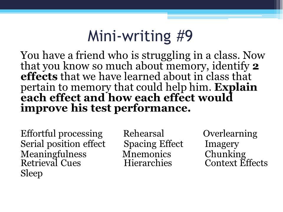 Mini-writing #9
