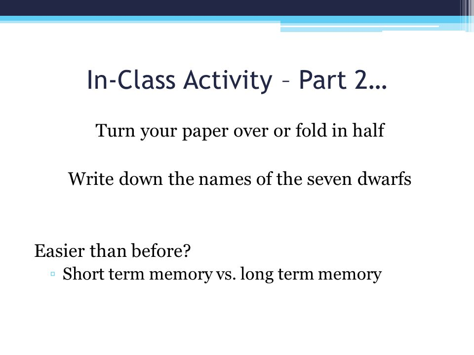 In-Class Activity – Part 2…