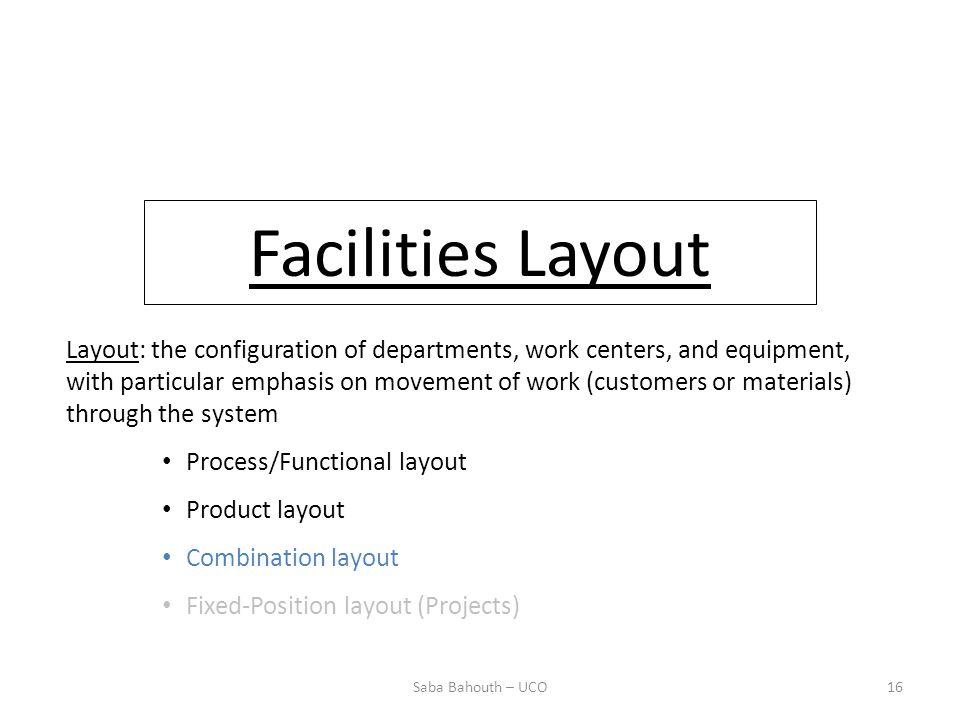 Facilities Layout