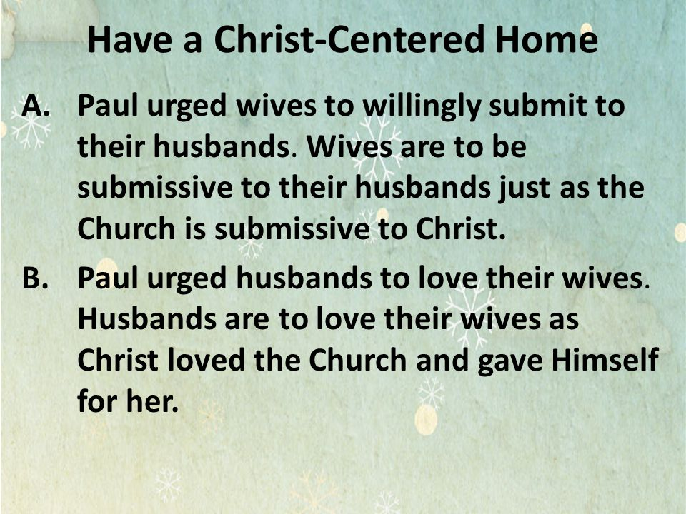 Have a Christ-Centered Home