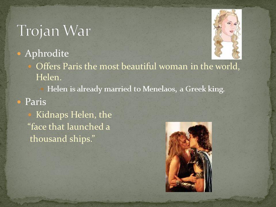 Trojan War Aphrodite Paris