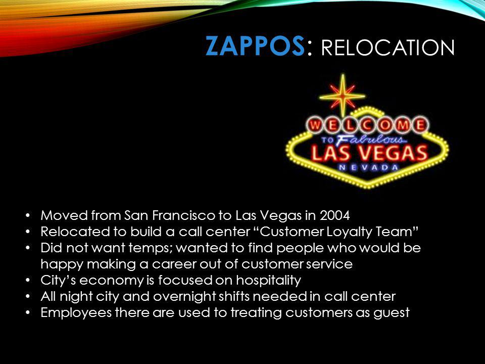 ZaPPOS: RELOCATION Relocation