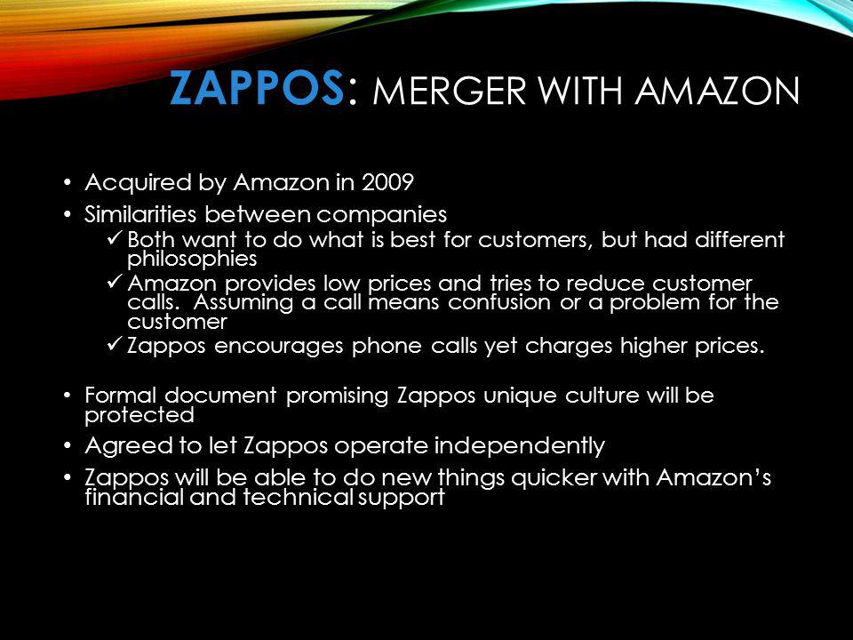 ZaPPOS: Merger with Amazon