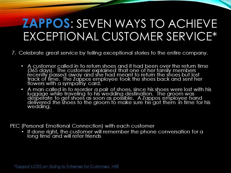 ZaPPOS: Seven Ways to Achieve Exceptional Customer Service*