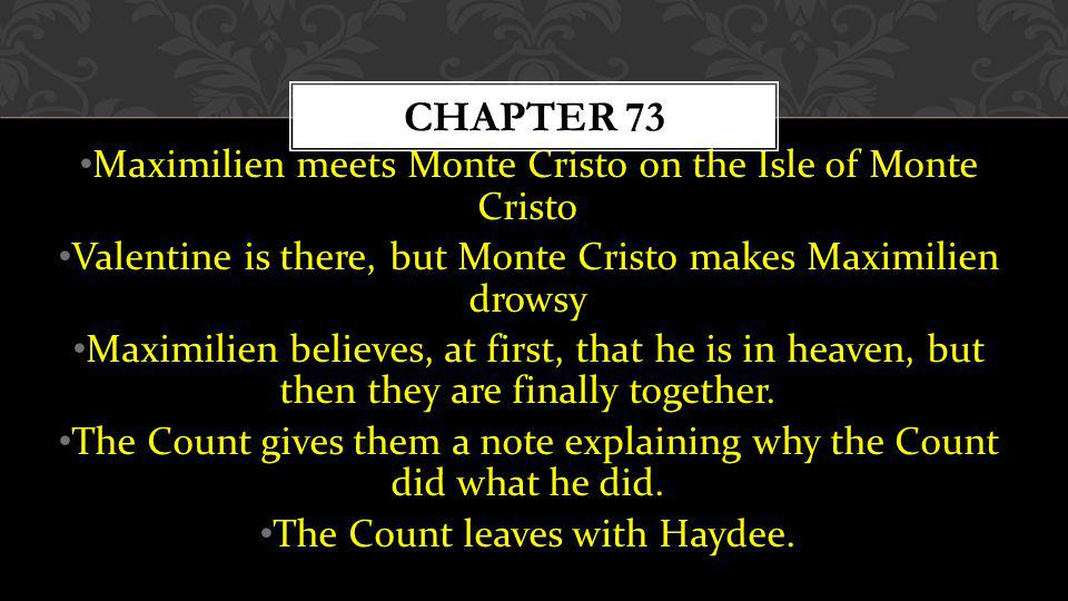 Chapter 73 Maximilien meets Monte Cristo on the Isle of Monte Cristo