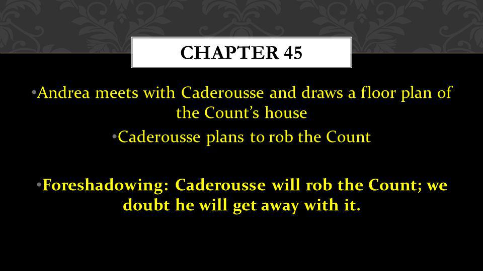 Caderousse plans to rob the Count