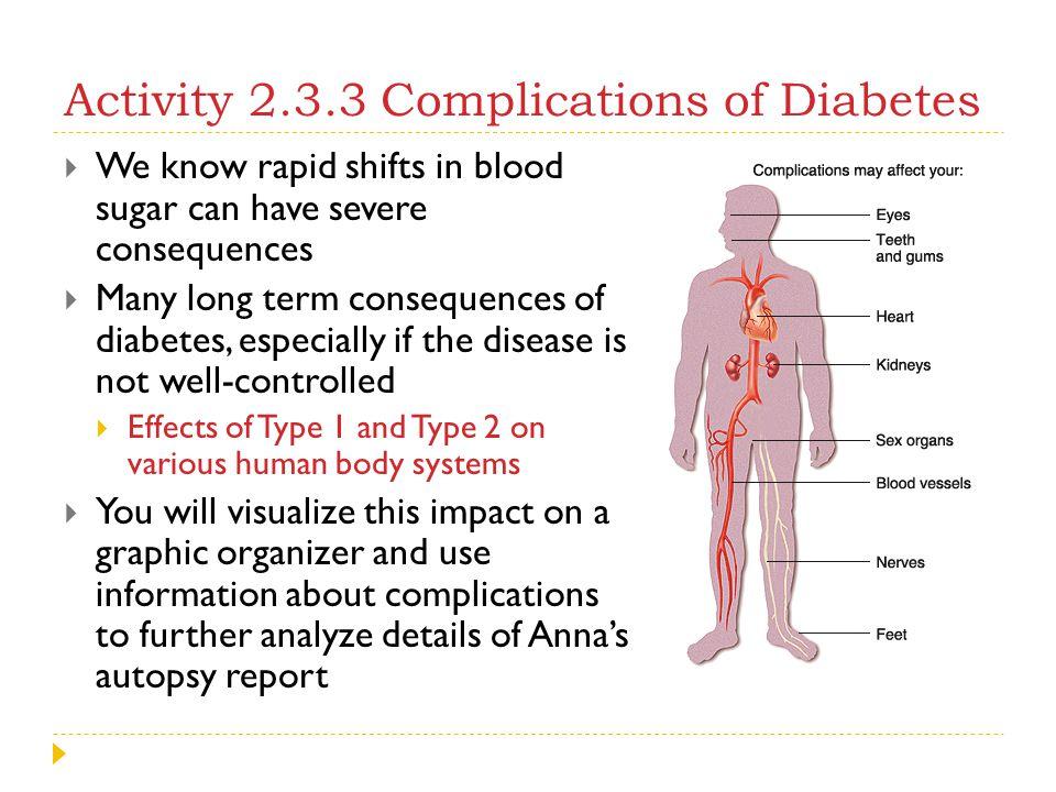 Activity 2.3.3 Complications of Diabetes