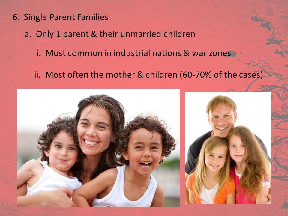 6. Single Parent Families