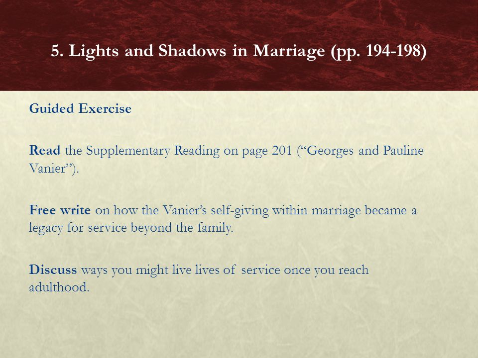 5. Lights and Shadows in Marriage (pp. 194-198)