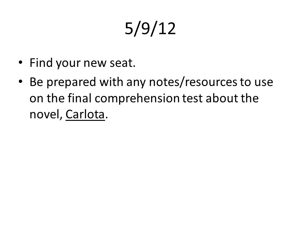 5/9/12 Find your new seat.