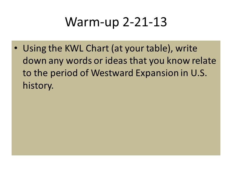 Warm-up 2-21-13