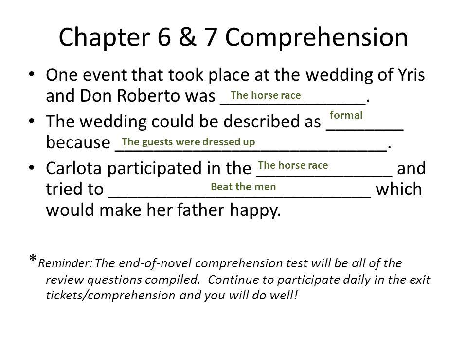 Chapter 6 & 7 Comprehension