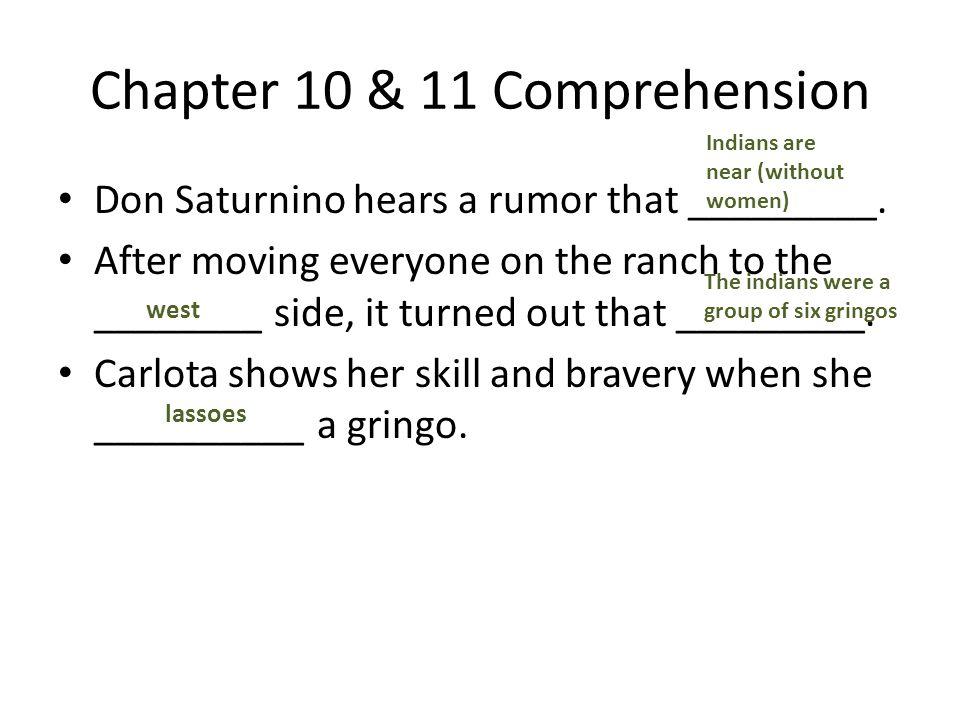 Chapter 10 & 11 Comprehension