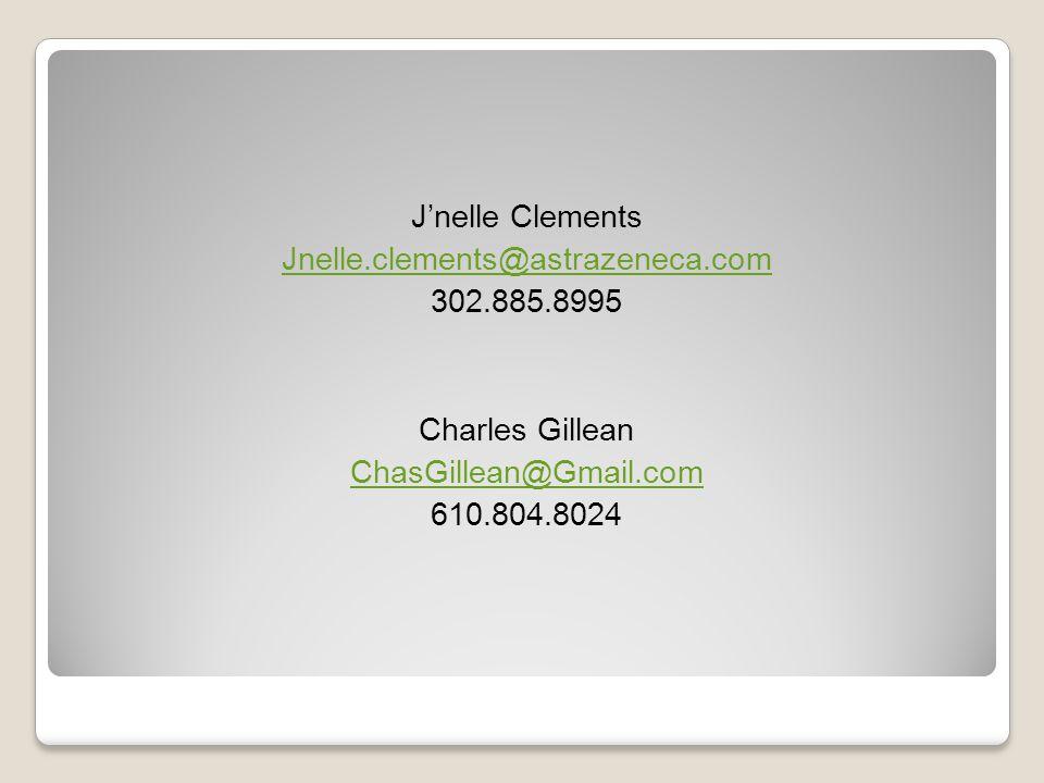 J'nelle Clements Jnelle. clements@astrazeneca. com 302. 885