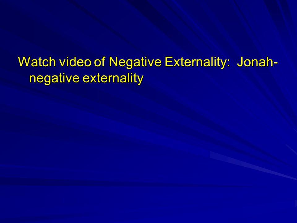 Watch video of Negative Externality: Jonah-negative externality