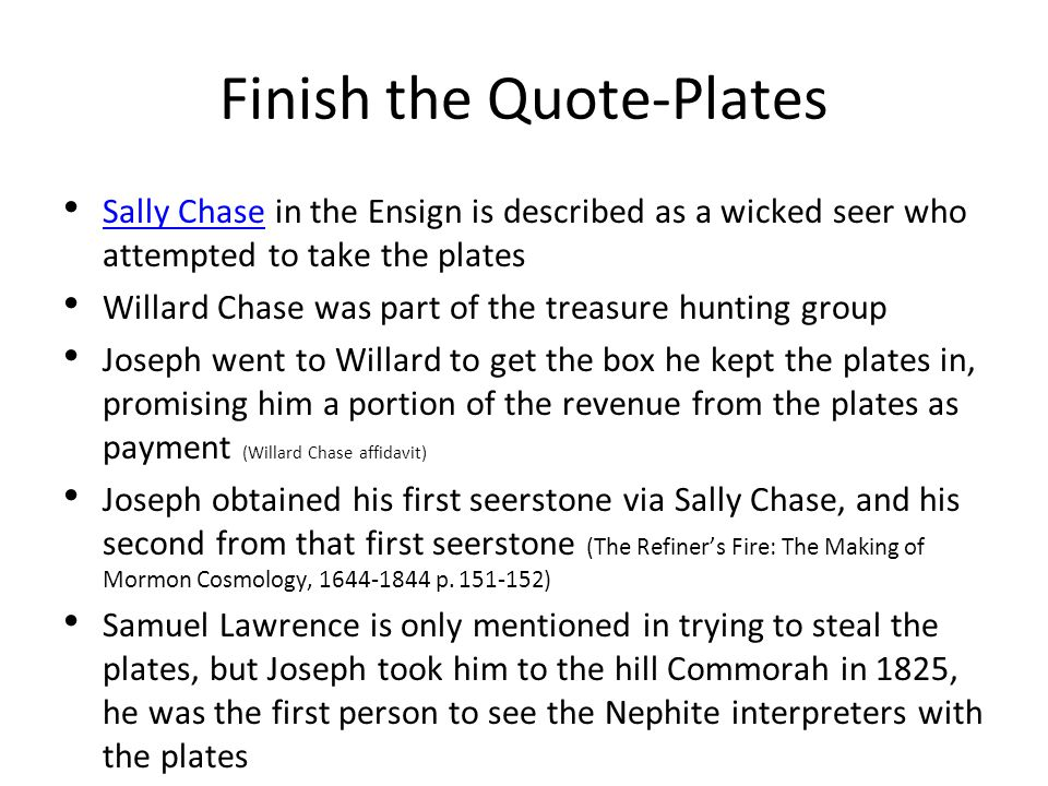 Finish the Quote-Plates