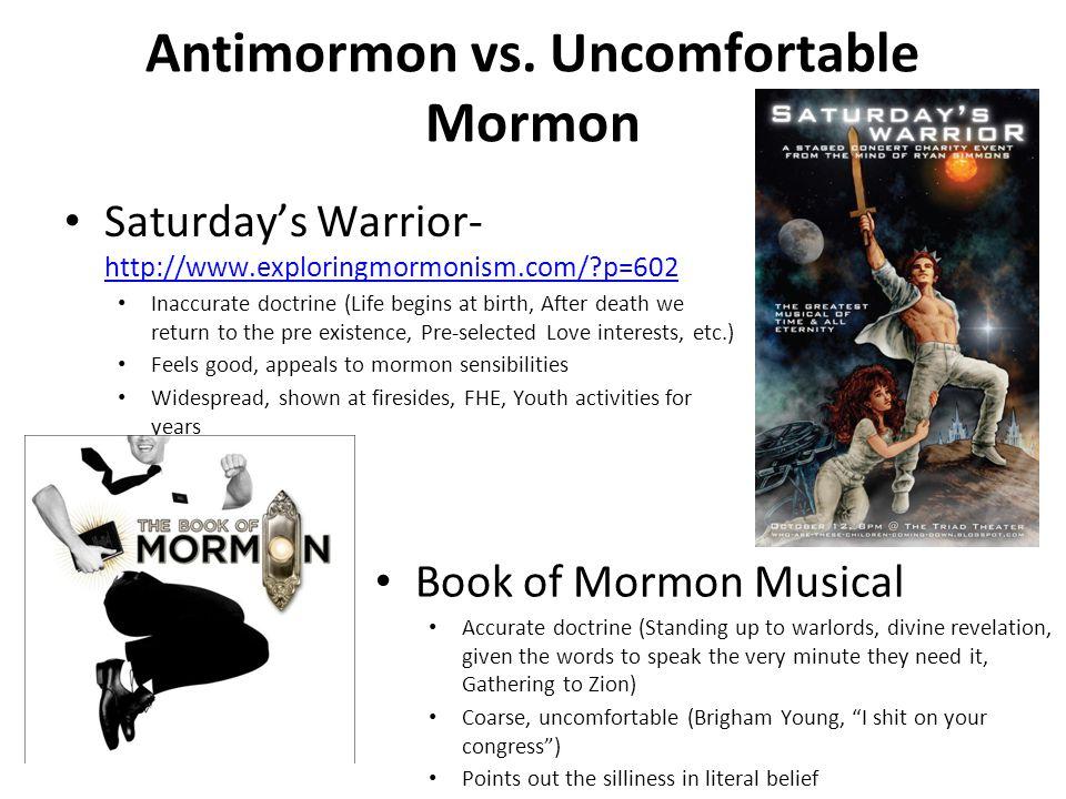 Antimormon vs. Uncomfortable Mormon